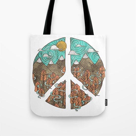 Peaceful Landscape Tote Bag