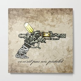 Raygun this is not a pipe Metal Print