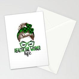 Lucky Healthcare Worker St Patricks Day Irish Shamrock  Stationery Cards