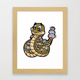 DIAMONDBACK RATTLE SNAKE Viper Cobra rattlesnake Framed Art Print
