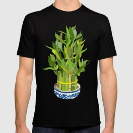 Lucky Bamboo in Porcelain Bowl T-shirt