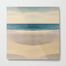 Vintage Beach Photographic Pattern #1 Metal Print