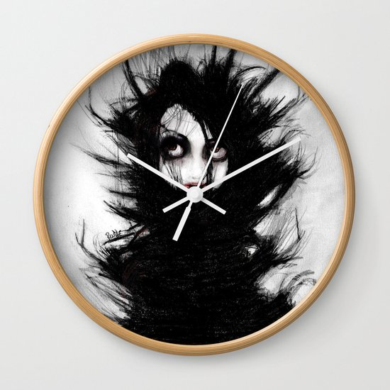 Coiling and Wrestling. Dreaming of You Wall Clock
