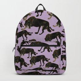 Totem black Buffalo wolf (nubilus) Lavender Backpack