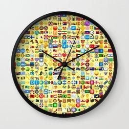 Emoji Madness Wall Clock