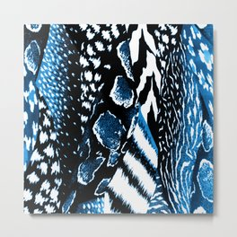 Jungle Blue Metal Print