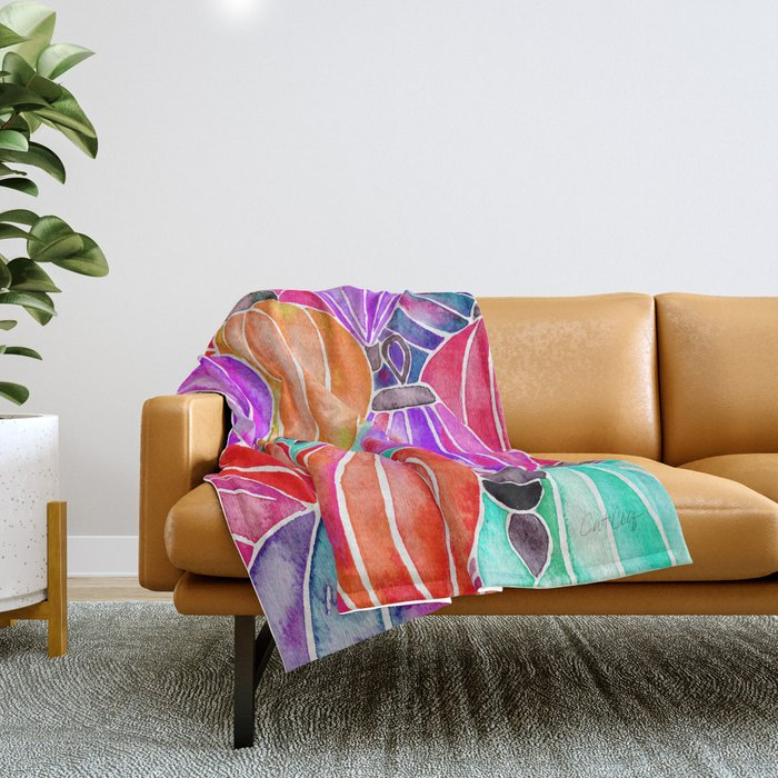 Vietnamese Lanters – Tertiary Palette Throw Blanket