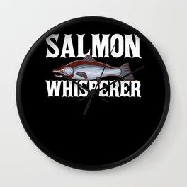 Salmon Fishing Gift Coho Salmon Fish Wall Clock