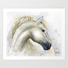 Horse Watercolor Painting | Animal Illustration Art Print