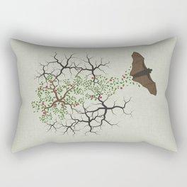 fruit bat paints forest Rectangular Pillow