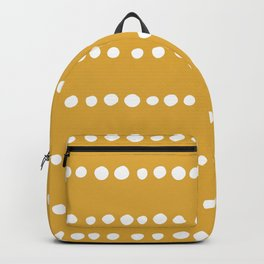 Spotted, Mudcloth, Mustard Yellow, Boho Prints Backpack