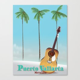 Puerto Vallarta Mexico travel poster art. Canvas Print