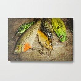 Dad's Fishing Crankbaits Metal Print