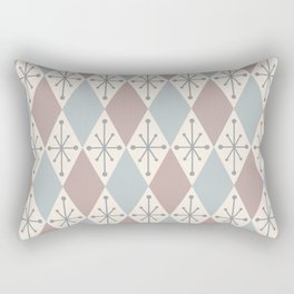 Diamonds and Starbursts Powder Rectangular Pillow