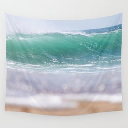 Sea Glass Waves Wall Tapestry