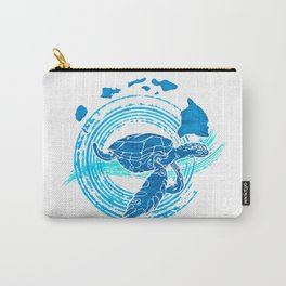 Watercolor Turtle Love Carry-All Pouch