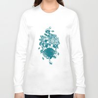 vegetables Long Sleeve T-shirts featuring Vegetables  by Sarah Dennis
