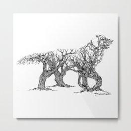 Golden Re-Tree-Ver Metal Print