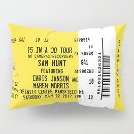 Concert Ticket Stub - Sam Hunt 15 in a 30 Pillow Sham