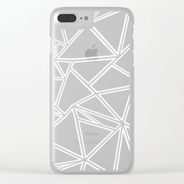 Shattered Ab Zoom Clear iPhone Case