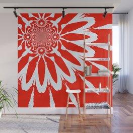The Modern Flower red Wall Mural