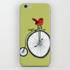 bird on a bicycle. iPhone & iPod Skin