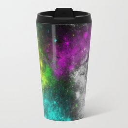 Electric Space - Abstract, neon, colourful space painting Travel Mug