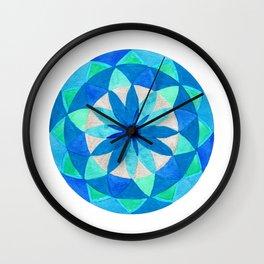 Morning's Last Star Mandala Wall Clock