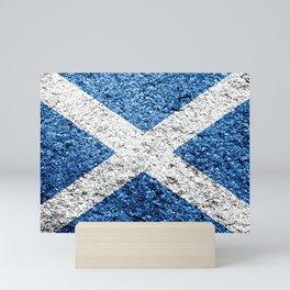 Scotland Flag Distressed Mini Art Print