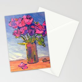 Vibrant Pink Roses Stationery Cards