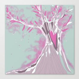 Blossoming pink tree  Canvas Print