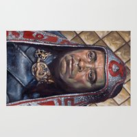 conan Area & Throw Rugs featuring Thulsa Doom by Jonathan  Bergeron