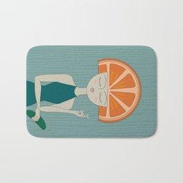 Rhymes With Orange Bath Mat