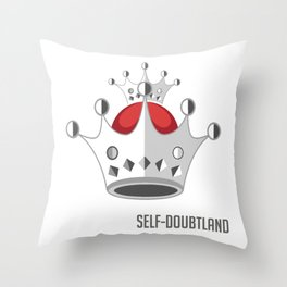 Emperor of Self-Doubtland Funny Person Gift Throw Pillow