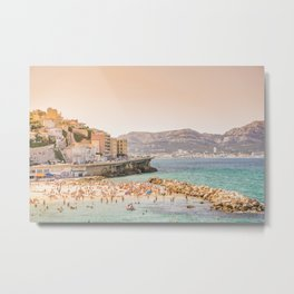 Summer - Beach - Marseille - France Metal Print