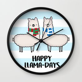 Happy Llama-Days Wall Clock