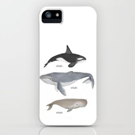 whale.whale.whale. iPhone Case