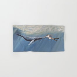 The Creation of Adam the Whale Hand & Bath Towel