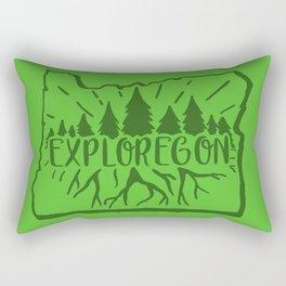 Exploregon (greens) Rectangular Pillow