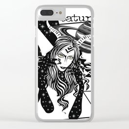 Capricorn - Zodiac Sign Clear iPhone Case