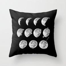 lunar phases of sleep Throw Pillow