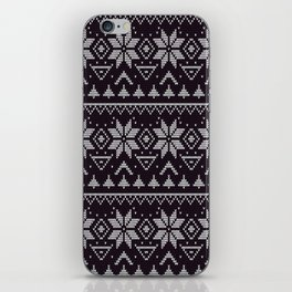 Knitted Christmas pattern in retro style 5 iPhone Skin
