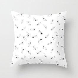 Safety Pin Throw Pillow