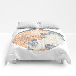 Yin Yang Cats Comforters