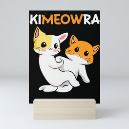 Jiu Jitsu Martial Arts Cat Cats Kitten Funny  Mini Art Print