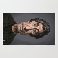 celebrity Area & Throw Rugs featuring Celebrity Sunday ~ Al Pacino by rob art | illustration