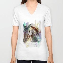 Watercolor Horse Portrait Unisex V-Neck