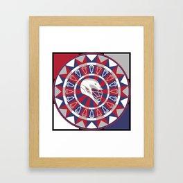 Lacrosse Shakey Dartboard Framed Art Print