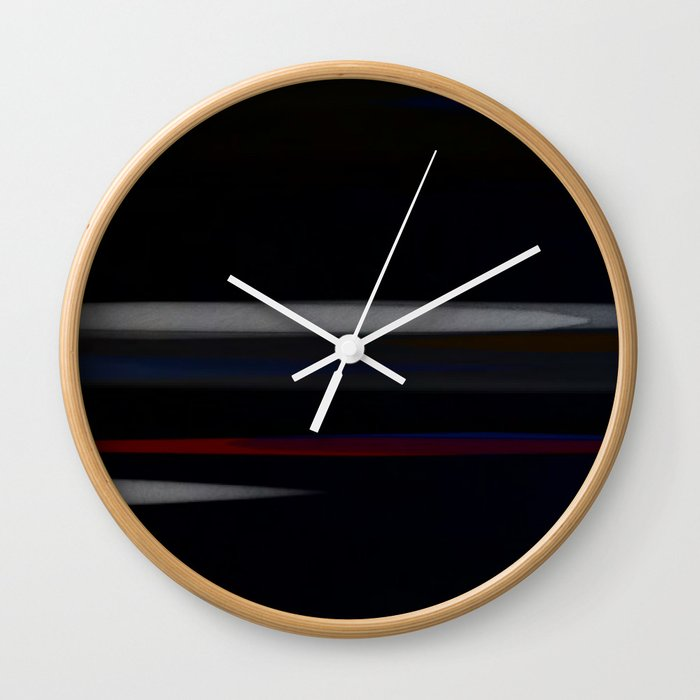 Minimalist Grey Lines Abstract Art Design Wall Clock