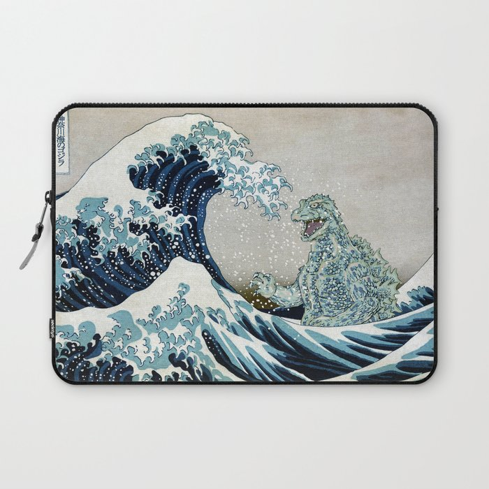 Godzilla Off Kanagawa Laptop Sleeve